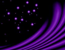 Purple little stars - abstract dark sky