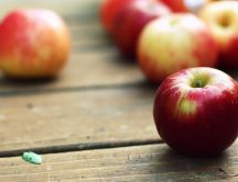 Delicious red apples - portion of vitamins