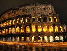 Beautiful architecture in the night - Colosseum of Rome