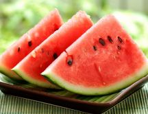 Summer fruit - delicious red watermelon