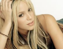 Famous blonde singer - Shakira at a professional photo shoot