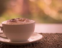 Delicious cappuccino with cream - perfect drink every day