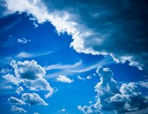 Wonderful blue sky - nature HD wallpaper