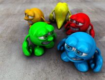 3D color abstract toys - funny smile
