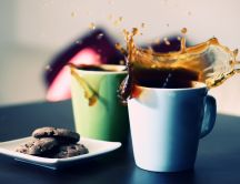 Coffee splash and cookies - good morning