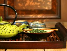 Delicious and healthy japanese green tea