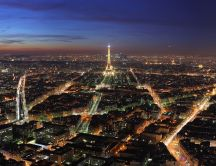 Beautiful landscape - Paris in the night