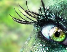 Beautiful art make-up - fantastic green eye