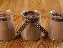 Three delicious jam with chocolate ice-crem