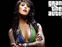 Beautiful and hot - brunette girl from Grand Theft Auto Five