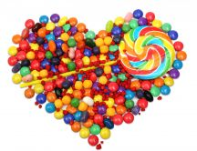 Heart of candies - delicious desert every day