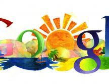 Drawing Google logo - summer time