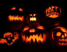Scary pumpkins - Autumn party, Halloween