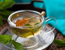Hot mint tea - perfect drink in the morning