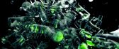 Beautiful abstract cool wallpaper - green glass