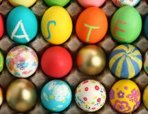 Lots of painted eggs - prepare for Easter