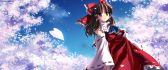 Hakurei Reimu - anime girl in the middle of blossom trees