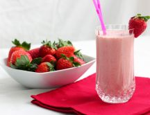 Start your day with a delicious strawberry milkshake