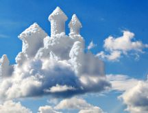 Abstract form of clouds - Princess castle in the sky