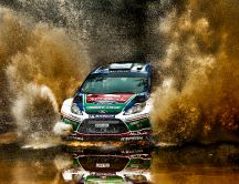 Race through the dirty water - HD auto wallpaper