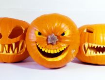 Evil pumpkins - Happy Halloween party