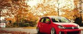 Shiny red Volkswagen Golf - HD wallpaper