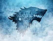 Stark logo wild wolf  - winter is coming