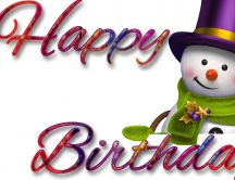 Happy Birthday little snowman - HD beautiful wallpaper