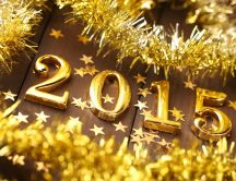 Golden garland - Happy New Year 2015