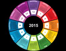 Rainbow calendar for the new year 2015