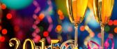 Happy New Year 2015 - golden year and a good champagne