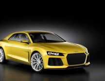 Beautiful yellow Audi Car - HD beautiful wallpaper