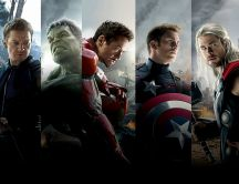 The Avengers Team Wide Wallpaper