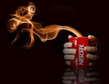 Nescafe brand - fire flavour of coffee