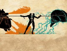 Brain vs Heart awesome desktop art HD wallpaper