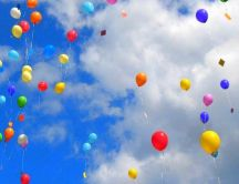 Balloons party in the sky - HD wallpaper