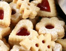 Cookies with jam in different forms