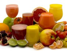 Fresh juice from various fruits and vegetables