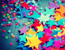 Magic childhood full of colourful stars