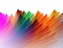 Abstract colourful wallpaper - beautiful rainbow
