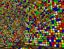 Multicolored tetris game - HD abstract wallpaper