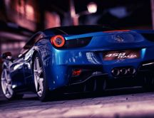 Ferrari 458 Italia - Blue car wallpaper