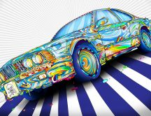 Abstract colored car - Artistic car