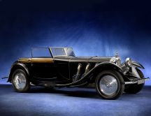 Black Mercedes Benz 680S by 1928 - Vintage car