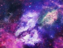 Glow Galaxy Texture - Space wallpaper