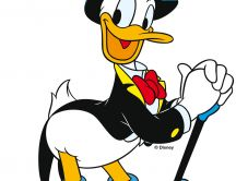 Donald Duck in black suit and hat - Disney wallpaper