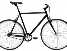 Black bike of city with single speed