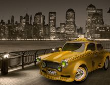 Yellow taxi from New Jersey, New York