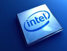 3D Intel logo - Blue HD wallpaper