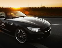 Black BMW Z4 Roadster in the sunlight